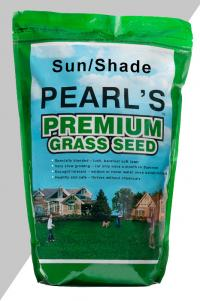 Pearl's Premium Ultra Low Maintenance Lawn Seed, Sun - Shade Mixture, 5lb Bag