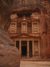As-Siq and Al-Khazneh at Petra in Jordan